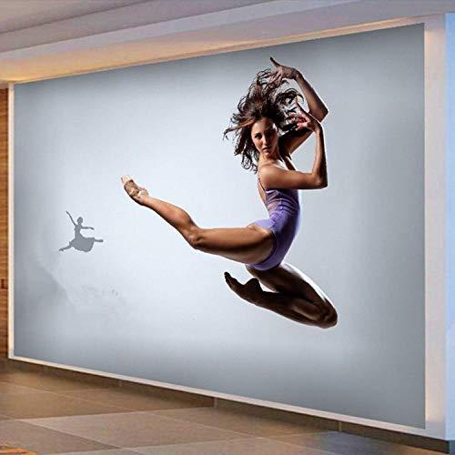 Papel Pintado Autoadhesivo 3D 350 * 256Cm Danza De Yoga Hermosa Mujer Abstracta Moderna Fondo De Pantalla De Fotos 3D Pegatina De Pared Regalos Navideños Para Niños Y Niñas Decoración