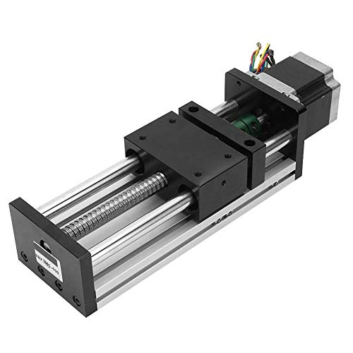 GNLIAN HUAHUA Motor CNC Linear Slide Stage 400mm Effective Travel Length Automation Industry Guide Rail Sliding Table with Nema23 57 Stepper Motor(1610)