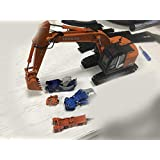 HITACHI 1/50 完成品 ZAXIS 225USRK Excavator+shear+Coupler+ hammer+pliers in one set ダイキャスト 掘削機