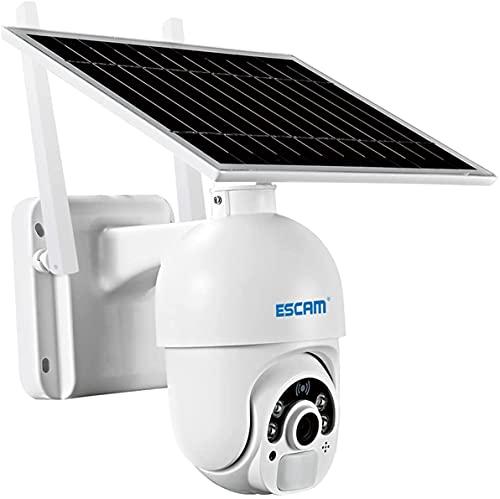 Cámara De Seguridad Para Exteriores Con Panel Solar, Alimentada Por Batería, 1080P Inalámbrica CCTV WIFI Cámara De Vigilancia Cámara IP Sistema De Seguridad Para El Hogar Con Detecció(Size:Camera+32G)