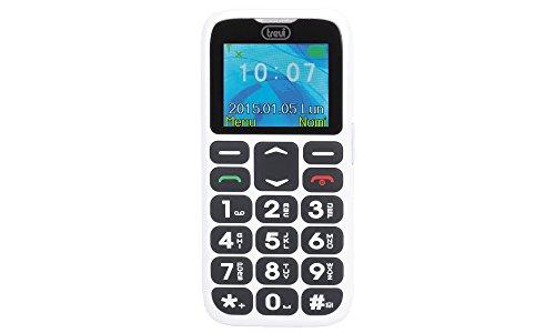 Trevi SICURO 10 Telefono Cellulare per Anziani con Tasti Grandi, Funzione SOS, Base di Ricarica, di facile utilizzo, Bianco