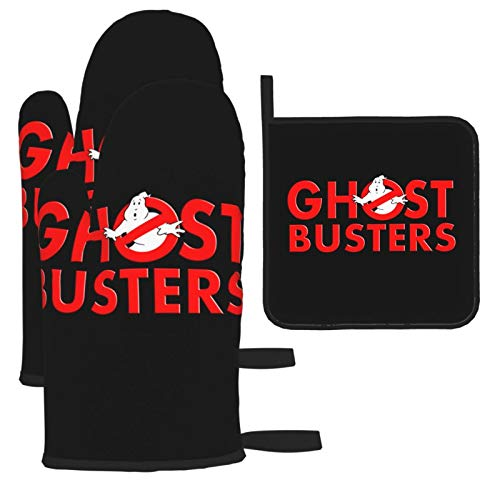 2016 Ghostbusters Oven Mitts and Pot Holders Sets Fashion Kitchen Safe Insulation Gloves