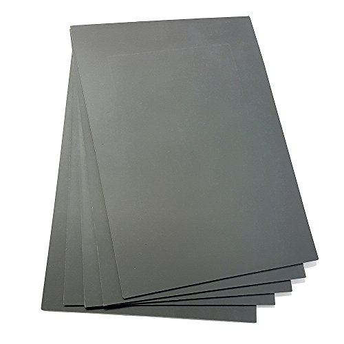 Grey Laserable Rubber for Stamp Engraving Machines DIY Crafts - 5 Sheets