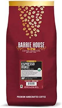 Barrie House Espresso Roast Whole Bean Coffee 2 lb Bag Fair Trade Organic Certified Dark Roast product image
