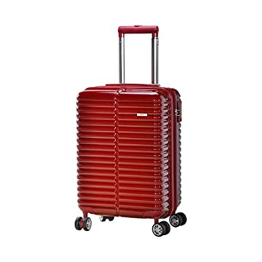 Master Massage Novana 20  Expandable Abs Carry-on Luggage, Burgundy