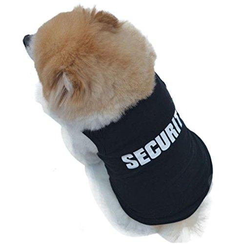 Fossen Pequeño Perro Ropa Verano Camiseta de Algodón para Pequeño Chihuahua Yorkshire Mascota Cachorros (XS, Negro)