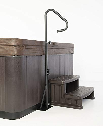 Sur-Grip Spa Hot Tub Safety Handrail (NO Tools Required ASSEMBLES in Under 5 MINS) Mounts Under The Hot Hub