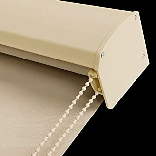 PASSENGER PIGEON Blackout Window Shades, Premium Custom Thermal Insulated UV Protection Waterproof Window Blinds with Metal Valance, 69