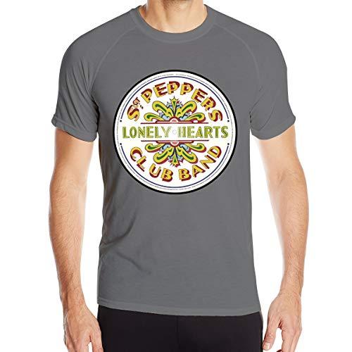 Mary S West SGT. Pepper's Lonely Hearts Club Band T-Shirt à séchage Rapide pour Hommes T-Shirt Militaire Hommes Camping en Plein air Chemises de randonnée à Manches Courtes