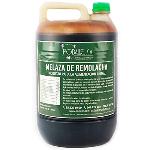 MELAZA POBALLE para COMPOST – Cultivo, cosechas y plantas. Garrafa de 6,5 kg de MELAZA de Remolacha de alta pureza.