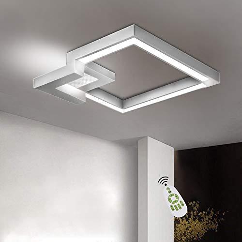 ZMH Plafoniera LED da soffitto I lampada moderna da soffitto 51W 60cm lampadario Dimmerabile bianco caldo| neutro | bianco freddo con il telecomando per camera da letto o soggiorno