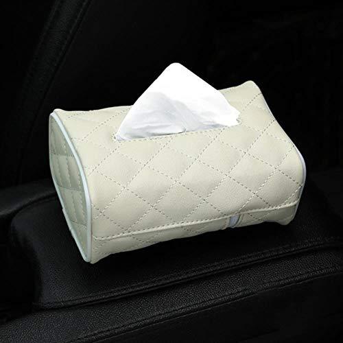 LinZX Gewebe-Kasten PU-Leder-Auto-Gewebe-Kasten-Serviette-Halter Sonnenblende Hanging Aufbewahrungsbehälter für Auto-Rücksitz-hängende Papierhalter,WT