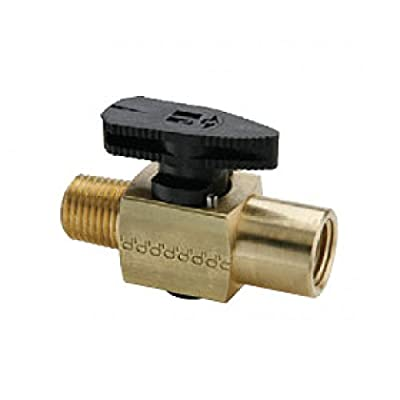 Parker PV608-2 Plug Valve 1/8 Female/Male NPTF Brass by Parker Fluid Connectors