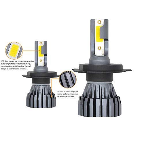 Kit de phares de voiture à DEL, 12 ampoules halogènes et halogènes automobiles, 24V 3000ML H4, aluminium, gris argenté, 1 pièce