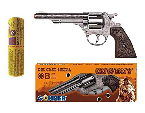 Die Cast Metal Cowboy Gun Toy Caps Ammunition Fancy Dress