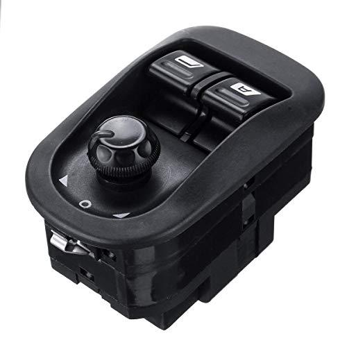 WZhen Botón Del Espejo Eléctrico Maestro Del Interruptor Del Elevar Eléctrico Para Peugeot 206 306 2002-2016