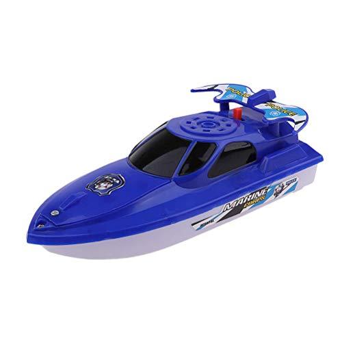 Twakom Bad Boot Spielzeug, Wasserboot Spielzeug Boot,Batteriebetriebenes, Plastik Schnellboot Badespielzeug, Badewannenspielzeug, Wasserspielzeug für Kinder Baby, 2 Stück