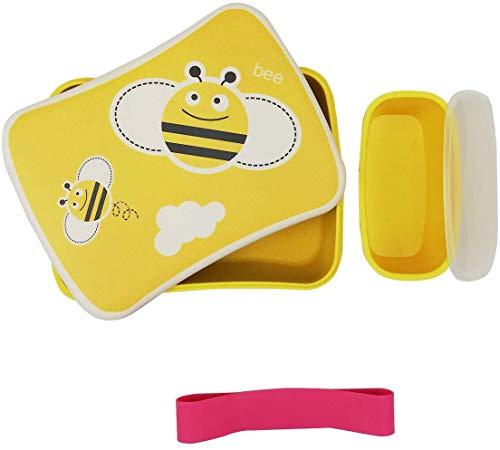 Fiambrera de Bambu Infantil ♻ Pack Tuper y Sandwichera de Fibra de B