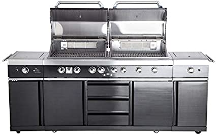 Allgrill Top Line Extreme Gas Barbecue Full Stainless Steel Outdoor Kitchen Black Amazon De Garden