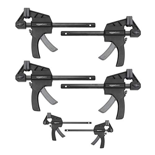 AmazonBasics 6-Piece Trigger Clamp Set - 2 Pieces 4-Inch, 4 Pieces 6-Inch