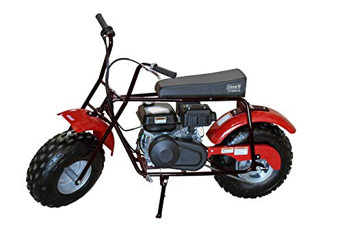 Coleman Powersports Mini Bike Trail Scooter for Adults & Kids 13+, Gas Powered, 196cc/6.5HP, Black (CT200U-AB)