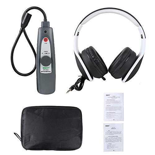 Febelle Detector de fugas ultrasónico sistema de presión de agua de aire probador con auriculares Detección para detectar fugas de puertas de ventana