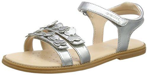 Geox Mädchen J Karly Girl I Sandal, Silber (Silver), 32 EU