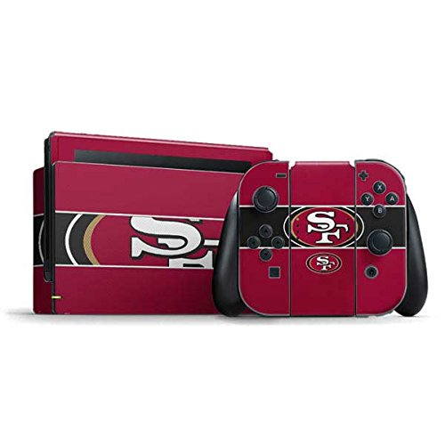 Skinit Decal Gaming Skin Compatible with Nintendo Switch Bundle - Officially Licensed NFL San Francisco 49ers Zone Block Design