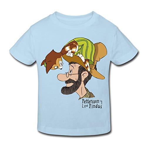 Pettersson Und Findus Unterhalten Sich Kinder Bio-T-Shirt, 98-104, Hellblau