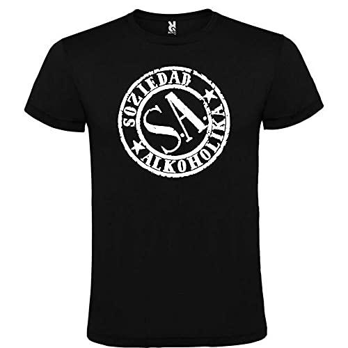LWANG Soziedad alkoholika Black t-Shirt Logo Men Size s m l XL XXL 100% Cotton Black XL