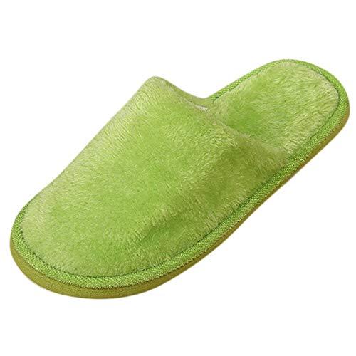 Clogs Hausschuhe Badeschuhe Zehentrenner Pantoletten Sandalen Trekking Sandalen Bade Sandalen Flops Offroad Sneaker Erholungsschuhe Pantoffeln (38,Grün)