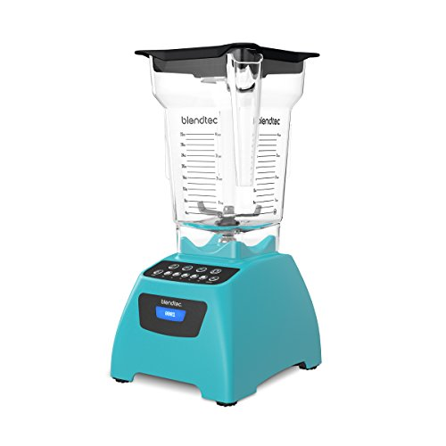 Blendtec Classic 575 Blender - FourSide Jar (75 oz) - Professional-Grade Power - Self-Cleaning - 4 Pre-programmed Cycles - 5-Speeds - Caribbean Blue