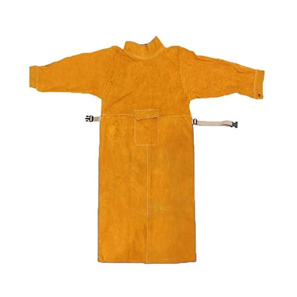 Jewboer Leather Welding Apron Jacket 4