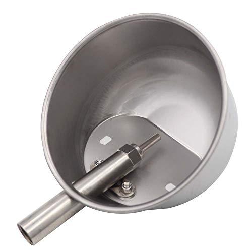 M.Z.A Abreuvoir en acier inoxydable abreuvoir automatique pour porcs bol d'eau pour porcs / truies abreuvoir rond pour cage à porcelets (L)