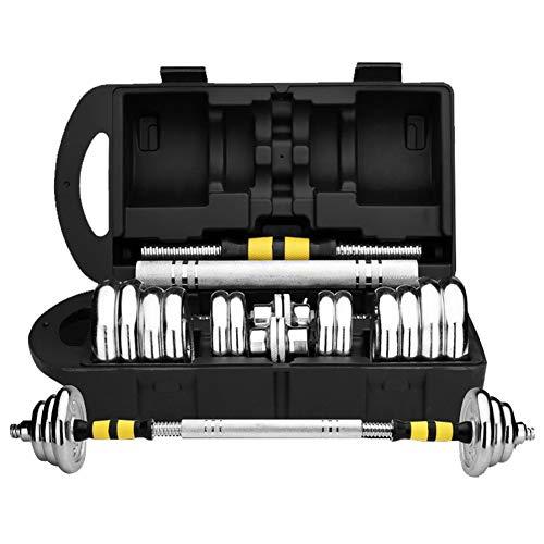 DHUA Innovatives 2-in-1 Kurzhantel-Set mit Silikonüberzug, Hanteln & Langhantel in einem, beschichtetem Hantel in 15 kg/20 kg/30 kg/50 kg, Krafttraining Haushalt Hantelset (50 kg)