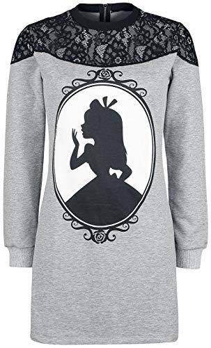 Alice im Wunderland Absolutely Alice Frauen Kurzes Kleid grau meliert/schwarz M