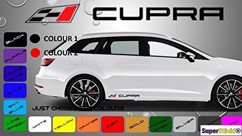 SUPERSTICKI Seat Cupra+ Fahne Aufkleber ca 30 cm Aufkleber Sticker Decal aus Hochleistungsfolie Aufkleber Autoaufkleber Tuningaufkleber Racingaufkleber Rennaufkleber Hochleistungsfolie für