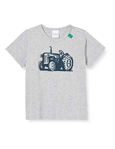 Fred'S World By Green Cotton Farming Front Print T Baby T-Shirt, Gris (Pale Greymarl 207670000), 74 Bébé garçon