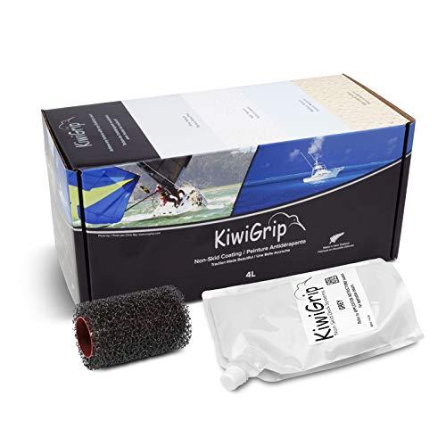 KiwiGrip KG-4GP-R Non-Skid Coating, 4 Liter Pouch, Gray