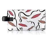 MAC Rebecca Moses Makeup Bag - Lips Print Cosmetic Case with Zip Closure