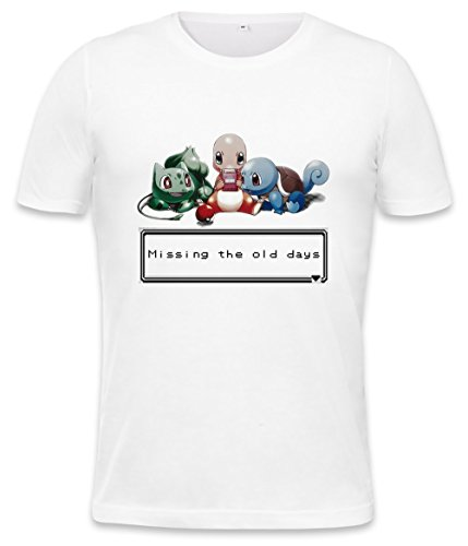 Pokemon Missing The Old Days Mens T-shirt Small