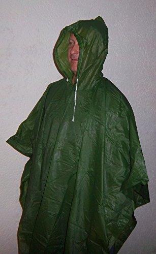 Regen-Poncho-Cape-Umhang- Jacke grün für Radfahrer Angler Regen-abweisend Damen Herren Fahrrad Angeln Camping wasserabweisend vom Sachsen Versand