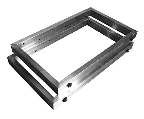 CHYRKA Couchtisch Kufengestell Tischgestell Edelstahl 201 Rahmentisch Tischkufe Tischuntergestell (400x400 mm) - 1 Paar
