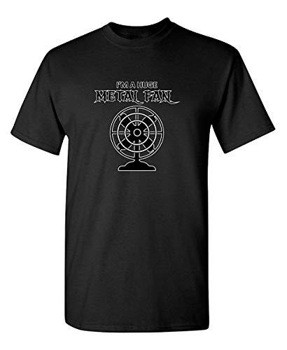 Camiseta muy divertida para hombre con diseño de abanico de metal, con...