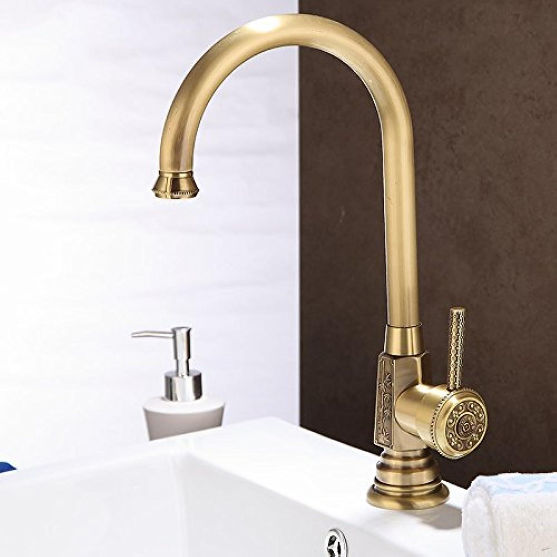Bijjaladeva Wasserhahn Bad Wasserfall Mischbatterie Waschbecken Waschtisch Armatur Waschbeckenarmatur für BadezimmerEine vollstndige Kupfer Waschbecken Wasserhahn B Geschnitzte