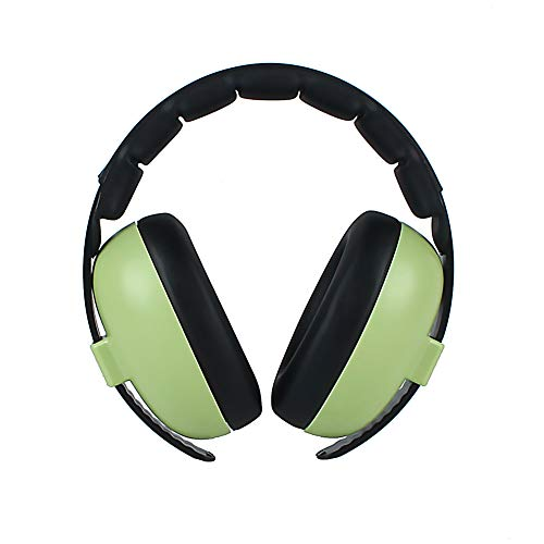 Kids Ear Defenders, Hearing Protection Earmuffs for Baby Infant Autism Kids, Adjustable Safety Headband Noise Cancelling Headphones Ear Muffs for Children and Adults(Green)