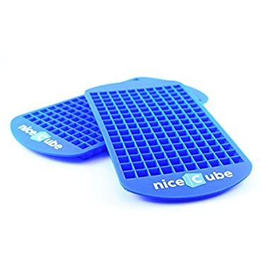 niceCube Mini Ice Cube Trays - 2 Tray Set - 160 Small Cube Silicone Molds, BPA-Free, Mini Cubes Will Chill Your Drink Faster