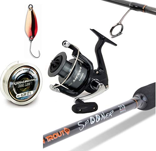 Spooncombo Spinnrute + Spinnrolle + Angelschnur + Daiwa Spoon Set Angelcombo