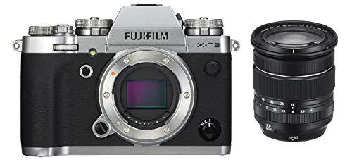 Fujifilm X-T3 Fotocamera Digitale Mirrorless 26Mp con Obbiettivo Xf16-80Mmf4 R Ois Wr, Filmati 4K, Mirino Evf, Schermo LCD 3  Touch Orientabile, Argento