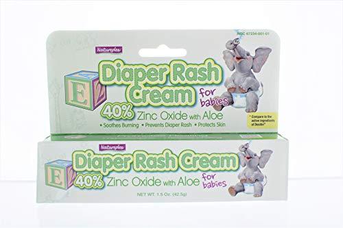 NATUREPLEX Diaper Rash Cream for Babies 40% ZINC Oxide with Aloe for Smooth...